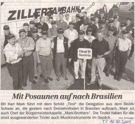 10.10.2001 Brasilien