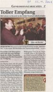 22.11.2002 Tourismusfachschule Empfang