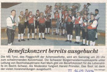 16.09.2004 Benefizkonzert Achensee
